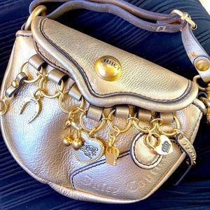 Juicy Couture Gold MINI BAG Wristlet Charms Y2K